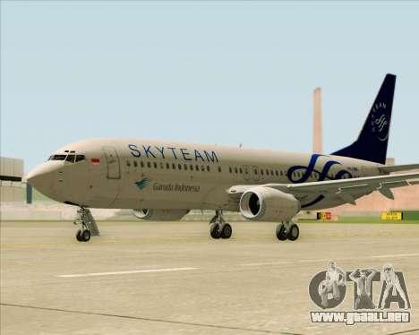 Boeing 737-86N Garuda Indonesia para la visión correcta GTA San Andreas