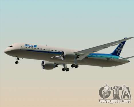 Boeing 787-9 All Nippon Airways para vista inferior GTA San Andreas