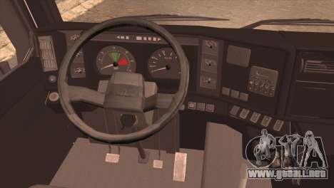 MAZ 6430 para GTA San Andreas vista posterior izquierda