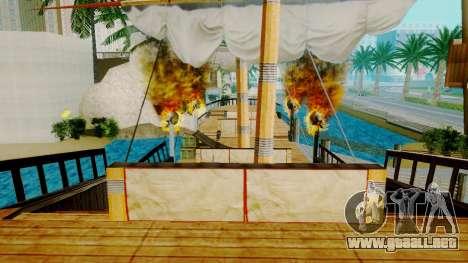 Nuevo barco pirata en Las Venturas para GTA San Andreas sucesivamente de pantalla