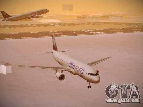 Airbus A320-214 LAN Oneworld para GTA San Andreas vista hacia atrás