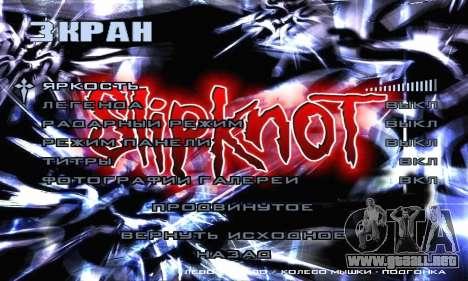 Metal Menu - Slipknot para GTA San Andreas séptima pantalla