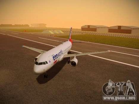 Airbus A320-214 TAM Oneworld para GTA San Andreas left