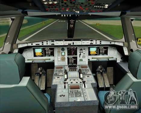 Airbus A380-861 Air France para GTA San Andreas interior