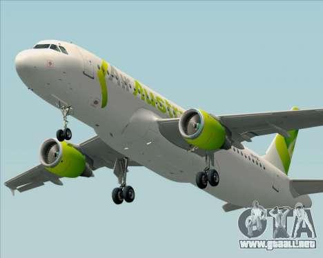 Airbus A320-200 Air Australia para vista lateral GTA San Andreas