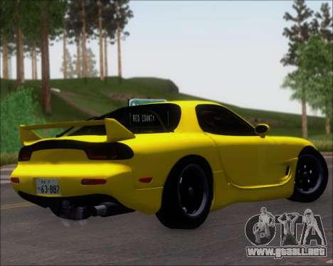 Mazda RX-7 FD3S A-Spec para la visión correcta GTA San Andreas