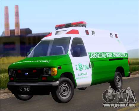 Ford E-150 Labocar para GTA San Andreas