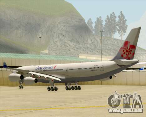 Airbus A340-313 China Airlines para la visión correcta GTA San Andreas