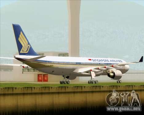 Airbus A330-300 Singapore Airlines para la visión correcta GTA San Andreas