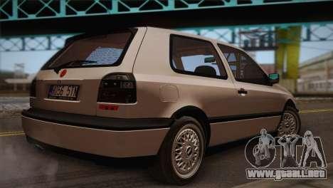 Volkswagen Golf Mk3 GTI para GTA San Andreas left