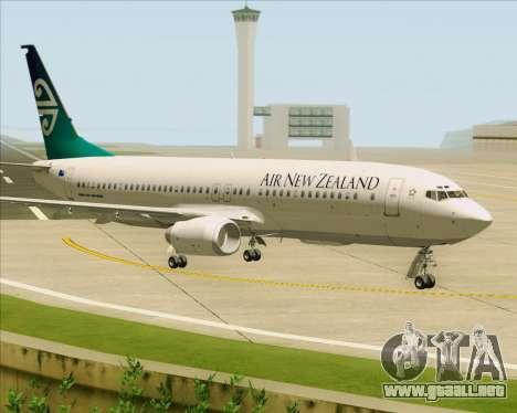 Boeing 737-800 Air New Zealand para GTA San Andreas left