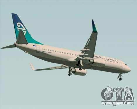 Boeing 737-800 Air New Zealand para visión interna GTA San Andreas