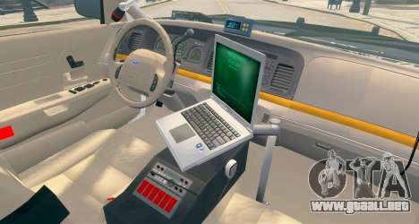 Ford Crown Victoria LCPD [ELS] Pushbar para GTA 4 vista hacia atrás