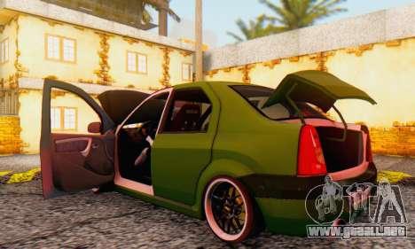 Dacia Logan MOR para visión interna GTA San Andreas
