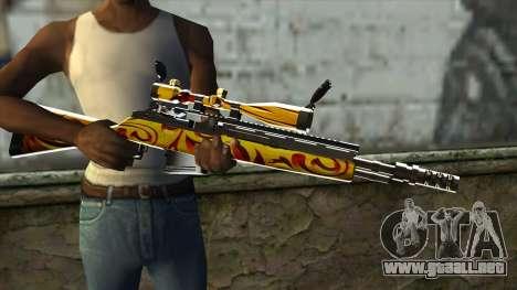 Nitro Sniper Rifle para GTA San Andreas tercera pantalla