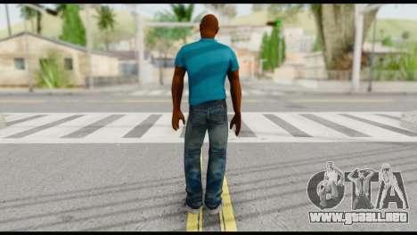 Blue Shirt Vic para GTA San Andreas segunda pantalla