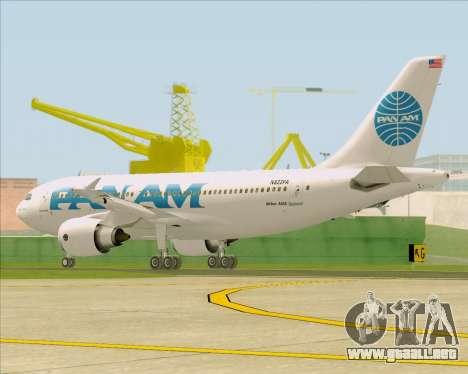 Airbus A310-324 Pan American World Airways para la visión correcta GTA San Andreas