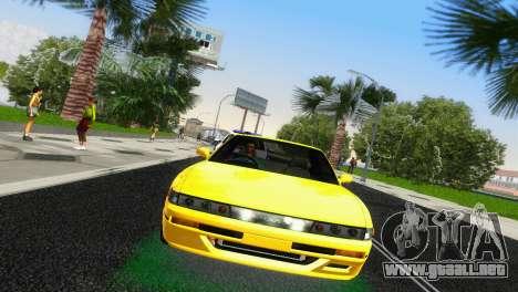 Nissan Silvia S13 RB26DETT Black Revel para GTA Vice City visión correcta