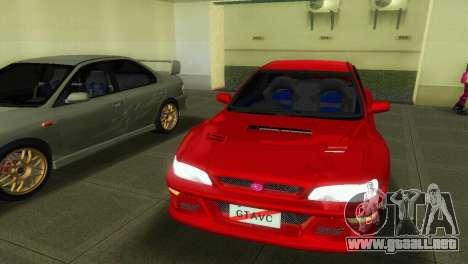 Subaru Impreza WRX STI GC8 22B para GTA Vice City visión correcta