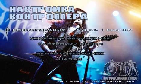 Metal Menu - Immortal (Live) para GTA San Andreas sucesivamente de pantalla