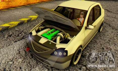 Dacia Logan MOR para GTA San Andreas left