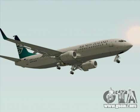 Boeing 737-800 Air New Zealand para vista inferior GTA San Andreas