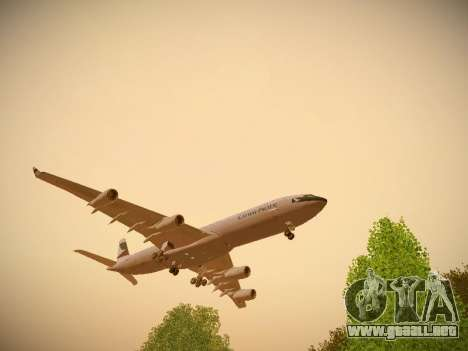 Airbus A340-300 Cathay Pacific para GTA San Andreas left