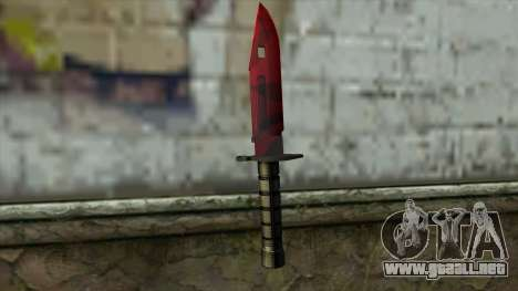Bayonet M9 para GTA San Andreas segunda pantalla