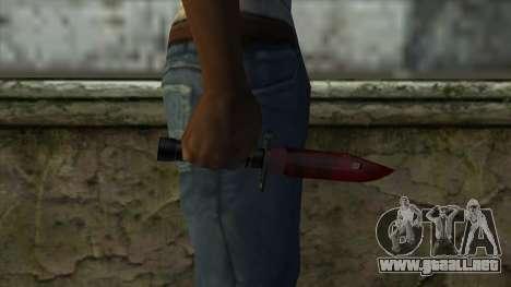 Bayonet M9 para GTA San Andreas tercera pantalla