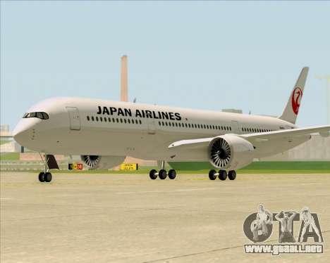 Airbus A350-941 Japan Airlines para GTA San Andreas vista posterior izquierda