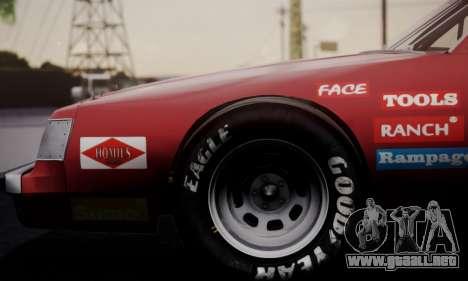Buick Regal 1983 para GTA San Andreas vista hacia atrás