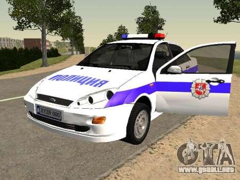 Ford Focus de Policía de la región de Nizhny Nov para GTA San Andreas