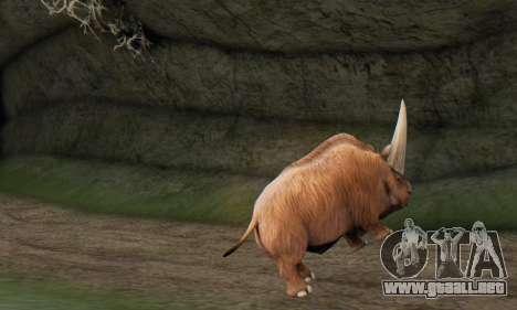 Elasmotherium (Extinct Mammal) para GTA San Andreas sucesivamente de pantalla