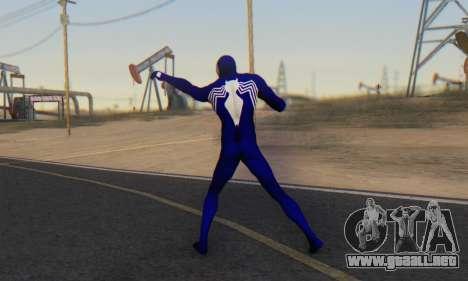 Skin The Amazing Spider Man 2 - Suit Symbiot para GTA San Andreas tercera pantalla