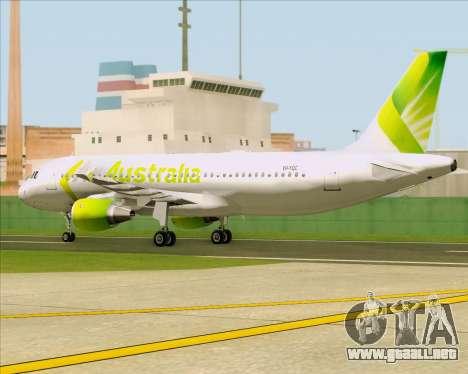 Airbus A320-200 Air Australia para visión interna GTA San Andreas