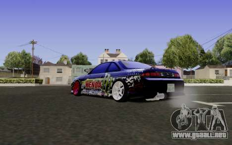 Nissan Silvia S14 Monster Energy para GTA San Andreas left