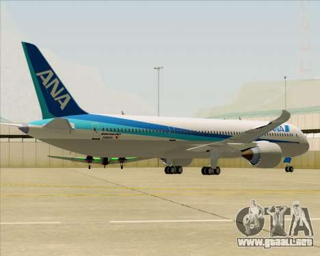 Boeing 787-9 All Nippon Airways para GTA San Andreas vista hacia atrás