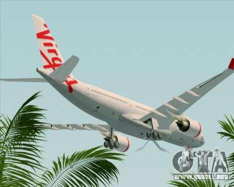 Airbus A330-200 Virgin Australia para la vista superior GTA San Andreas