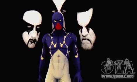 Skin The Amazing Spider Man 2 - Suit Cosmic para GTA San Andreas segunda pantalla