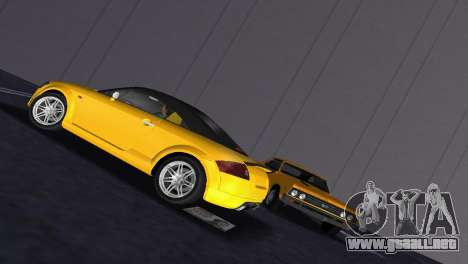 Audi TT Coupe BiMotor Black Revel para GTA Vice City vista posterior