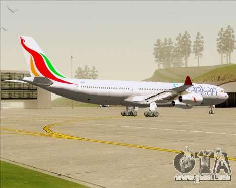 Airbus A340-313 SriLankan Airlines para GTA San Andreas vista hacia atrás