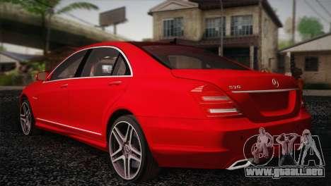 Mercedes-Benz S70 W221 para GTA San Andreas left