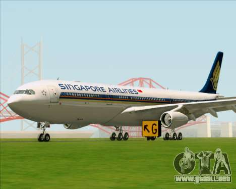 Airbus A340-313 Singapore Airlines para GTA San Andreas left