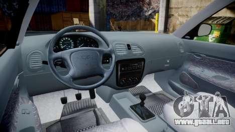 Daewoo Nubira I Sedan S PL 1997 para GTA 4 vista hacia atrás
