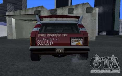 Actualizado Sandking para GTA San Andreas vista posterior izquierda