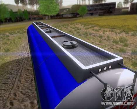 Remolque tanque Carro Copec para visión interna GTA San Andreas
