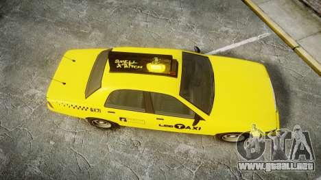 GTA V Vapid Taxi LCC para GTA 4 visión correcta