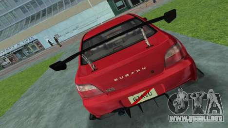 Subaru Impreza WRX 2002 Type 4 para GTA Vice City vista lateral izquierdo