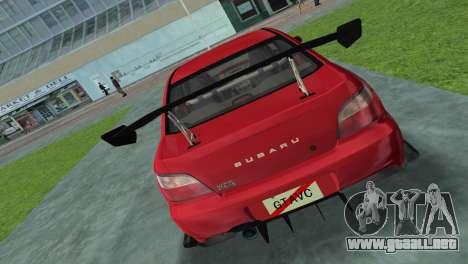 Subaru Impreza WRX 2002 Type 4 para GTA Vice City vista lateral izquierdo