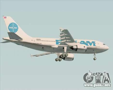 Airbus A310-324 Pan American World Airways para GTA San Andreas vista hacia atrás